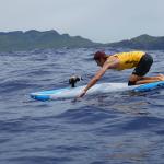 Ludovic Dulou sur la course Molokaï2Oahu
