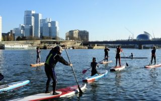 Coaching SUP sur la Seine