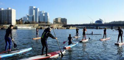 Coaching SUP sur la Seine